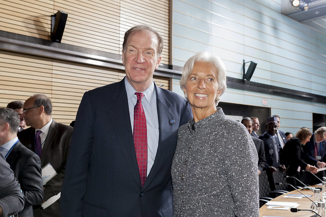World Bank Group President David Malpass and International Monetary Fund Managing Director Christine Lagarde at Spring Meetings 2019